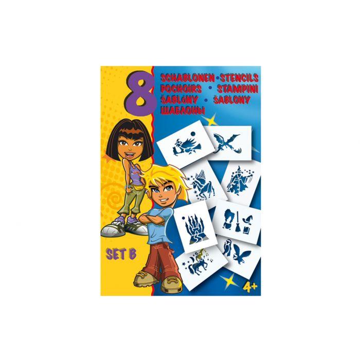 Трафареты MALINOS фэнтези 8 шт (набор B)