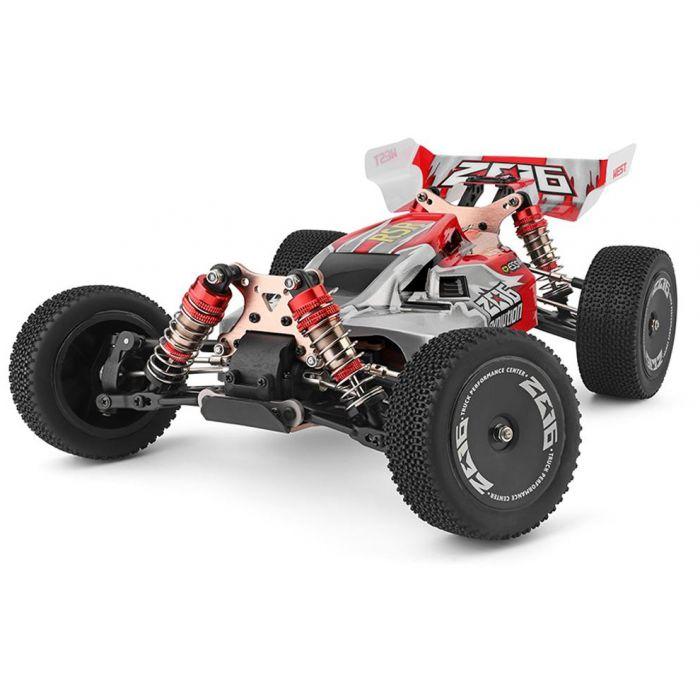 Машинка на радиоуправлении 1:14 багги WL Toys 144001 4WD (красный)