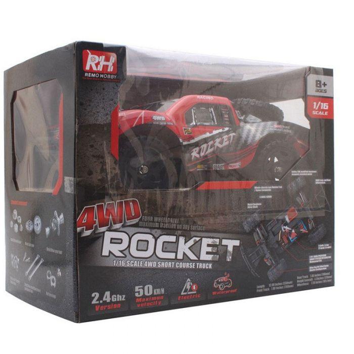 Шорт корс 1:16 Вологозахисна  Remo Hobby Rocket 1/16 40 км/год (червона)
