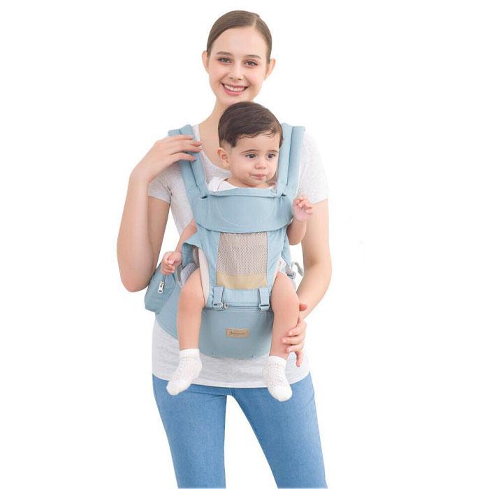 Ергономічний рюкзак, кенгуру переноска, хіпсіт Yuanzixiue Seat baby blue (3 в 1)