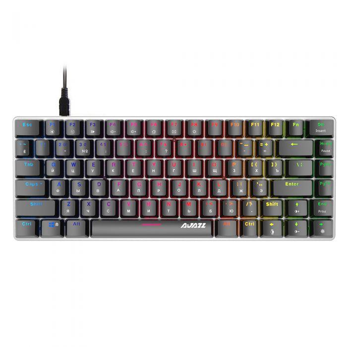 Клавиатура Ajazz AK33, - Blue Swich (Русские символы, RGB подсветка)