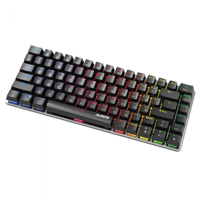 Клавіатура Ajazz AK33, - Blue Swich  (Російські символи, RGB підсвітка)