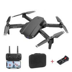 Квадрокоптер E99 Pro 2 Black – дрон з 4K і HD FPV Wifi камерами, додатковий акумулятор, 20+20 хв + кейс