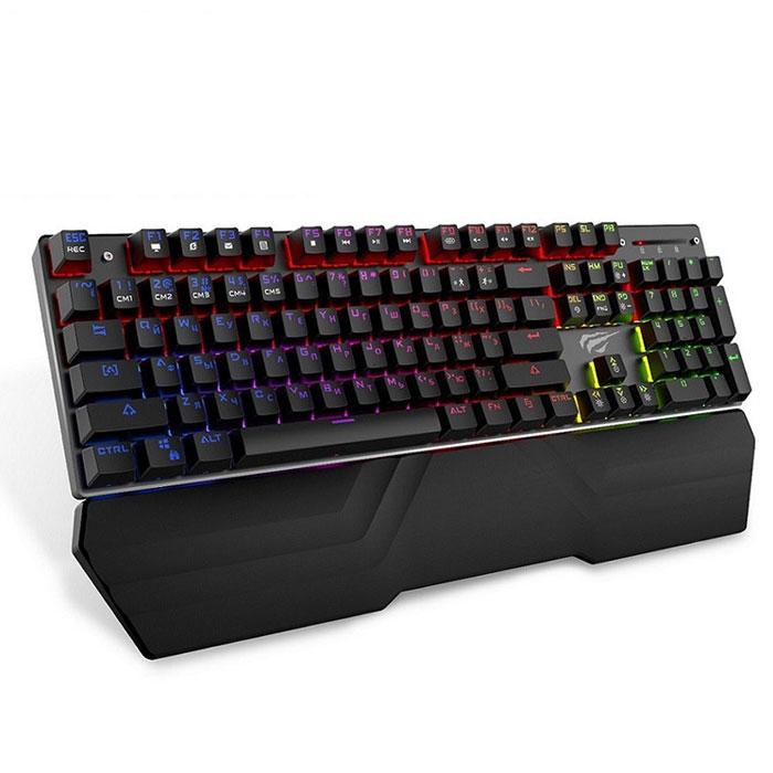 Клавіатура HAVIT HV-KB432L RGB підсвітка (Російські символи)  Blue switch