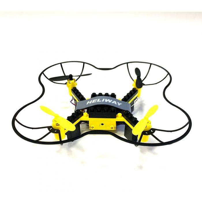 Квадрокоптер конструктор HELIWAY 902S з FPV камерою 480p, до 60 м польоту (жовтий)