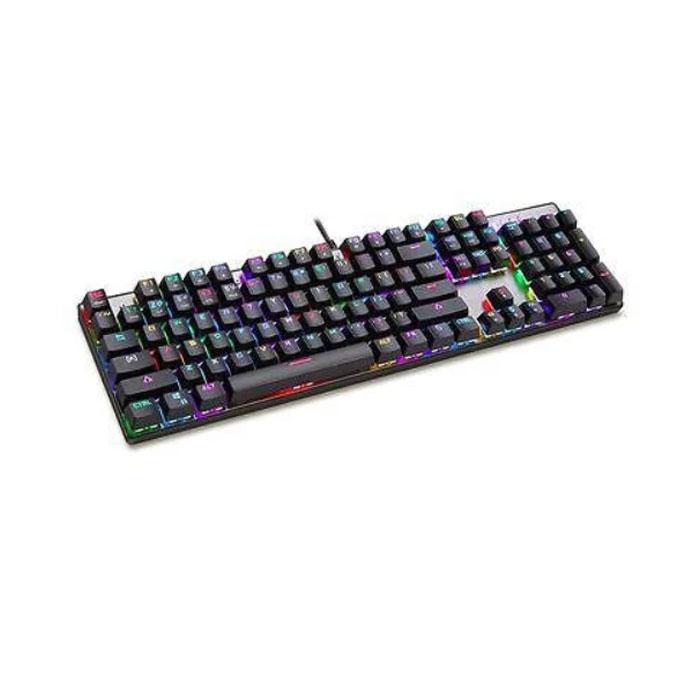 Клавіатура Motospeed CK104 Blue switch з підсвічуванням (104 клавіші,є російська розкладка, яка підсвічується)