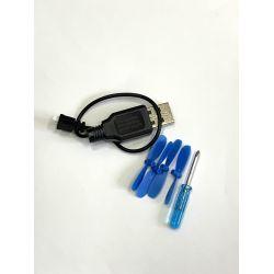Набір для квадрокоптера Dowellin D1 / зарядний пристрій + лопасті / гвинти / пропелери
