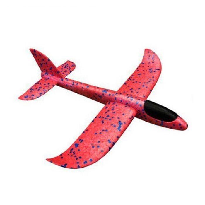 Планер метальний великий розмах крил 49 см (червоний)