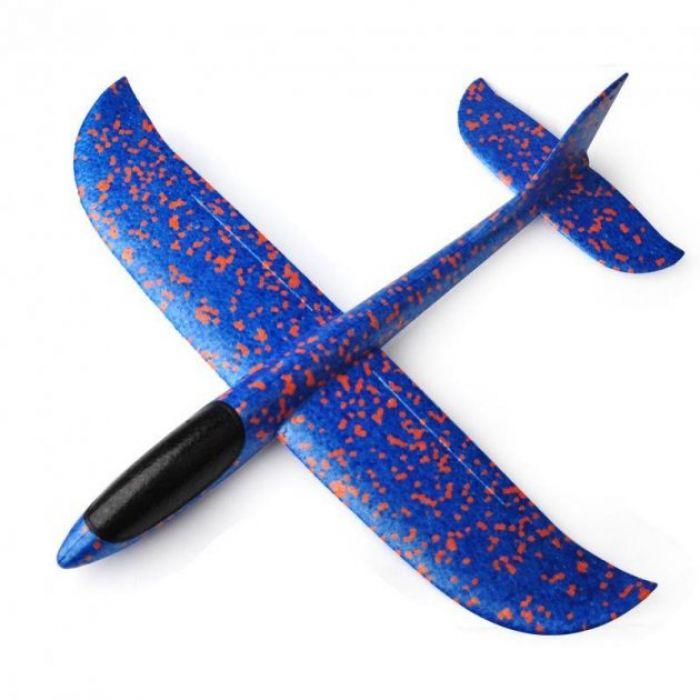 Планер метальний великий розмах крил 49 см (синій)