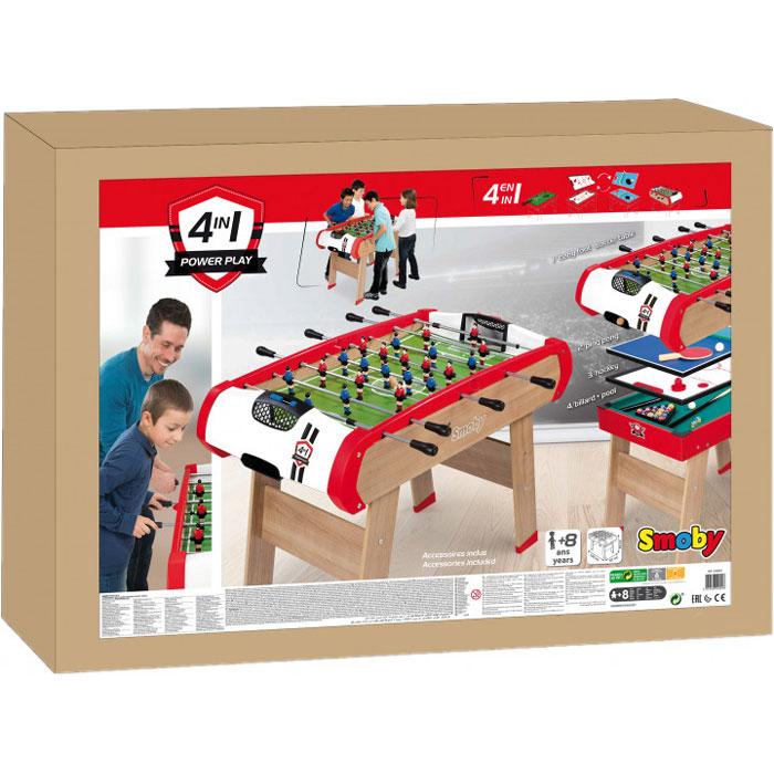 Дерев'яний напівпрофесійний стіл Smoby Power Play 4 в 1 640001