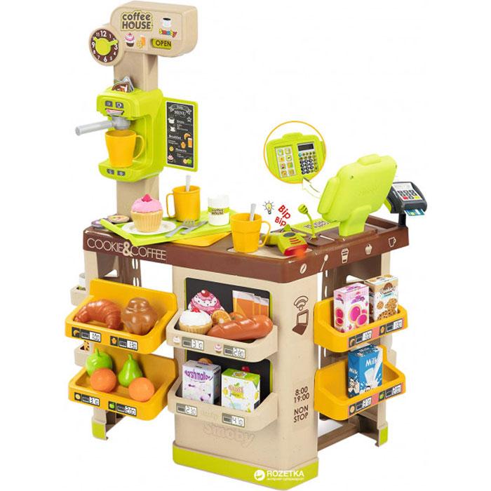 Інтерактивна кав'ярня Smoby Toys Coffee House зі звуковими ефектами й аксесуарами 350214