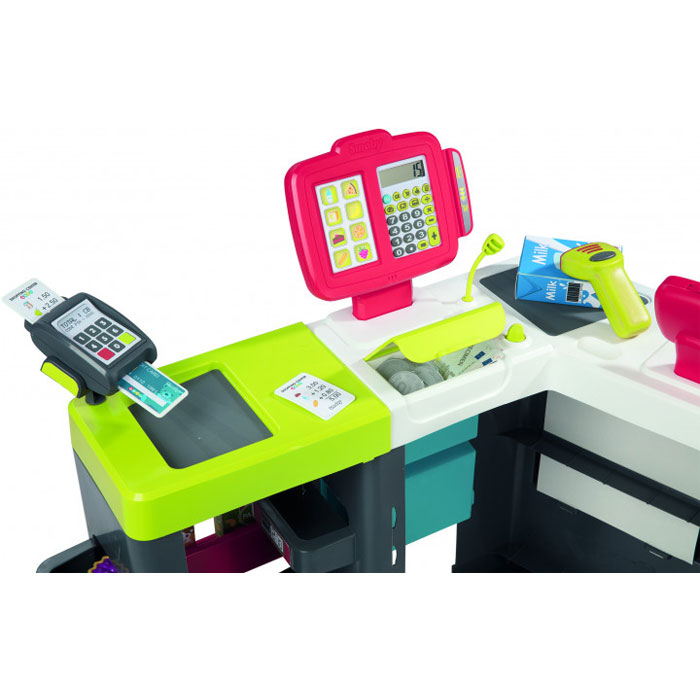 Інтерактивний супермаркет Smoby Toys Maxi Market зі звуковими ефектами, візком і аксесуарами 350213