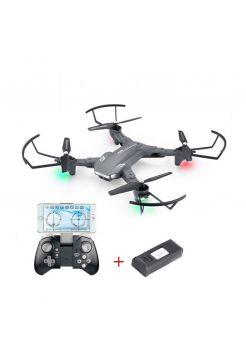 Квадрокоптер Visuo XS816 з двома камерами 4K і HD, FPV - прямою трансляцією відео, оптичним утриманням позиції, до 20 хв. польоту + 1 Акумулятор (Сірий)