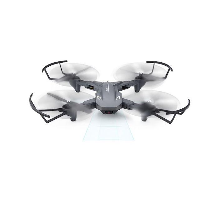 Квадрокоптер Visuo XS816 з двома камерами 4K і 0.3 МП, FPV - прямою трансляцією відео, оптичним утриманням позиції, до 20 хв. польоту (Сірий)