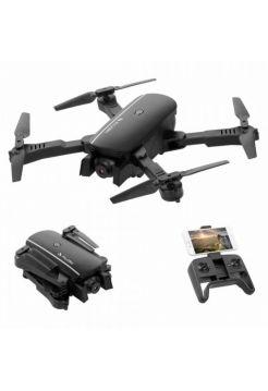Квадрокоптер Falcon 1808 Black – дрон з 4K і HD камерами FPV Wifi, барометром, до 15 хв. польоту, складний