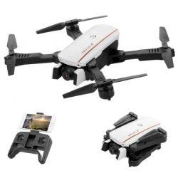 Квадрокоптер Falcon 1808 White – дрон з 4K і HD камерами FPV Wifi, барометром, до 15 хв. польоту, складний