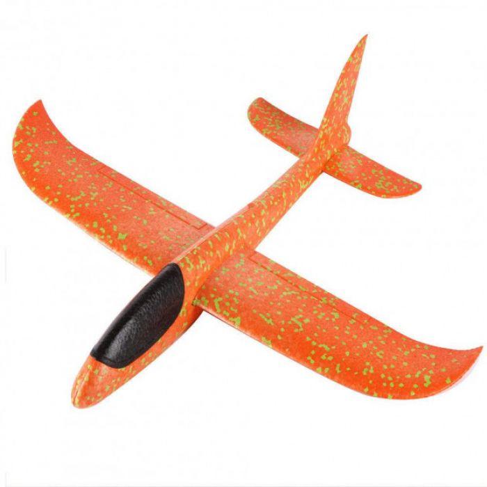 Планер метальний великий розмах крил 49 см (оранжевий)
