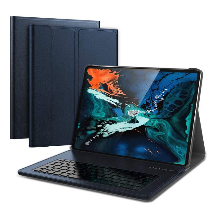Чохол клавіатура iPad Pro 12,9 модель 2018 року. Темно-синій.  (Розкладка - US)