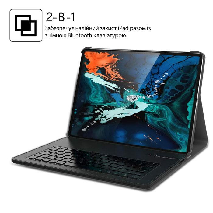 Чохол клавіатура iPad Pro 12,9 Чорний. Для моделей 2018 року (A1876, A2014, A1895, A1983). (Розкладка - US)