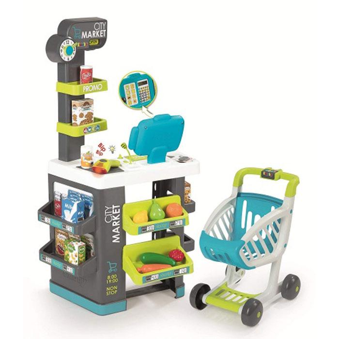 Інтерактивний супермаркет з касою і візком Сіті Маркет, Smoby Toys 350212
