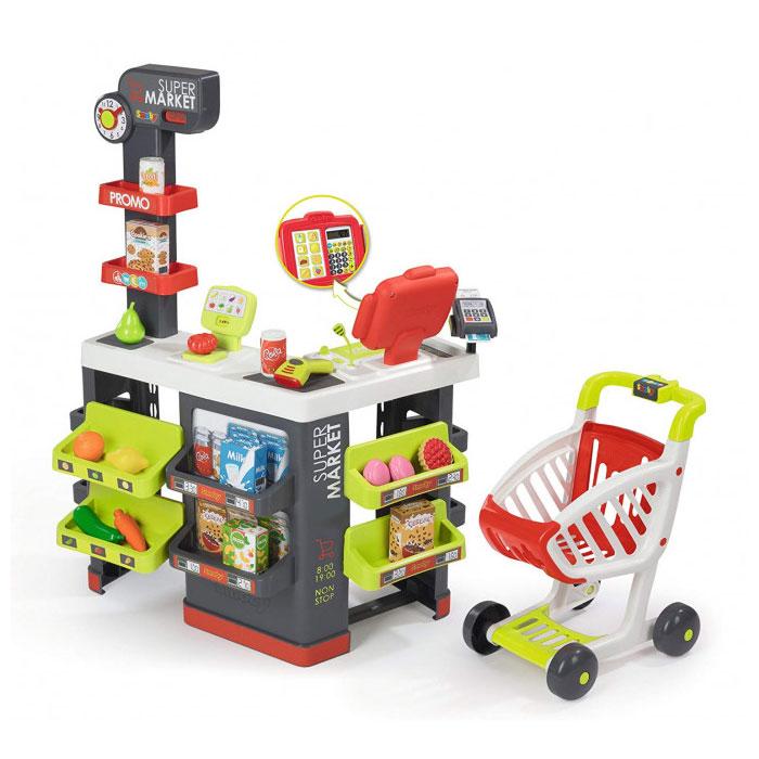 Інтерактивний супермаркет з касою і візком Smoby Toys Супер Маркет 350215
