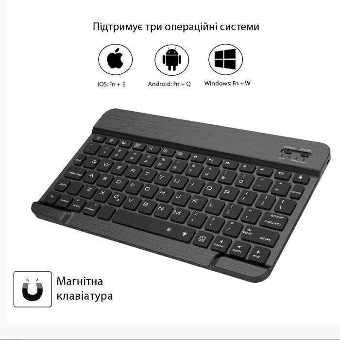 """Клавіатура-чохол для iPad Pro 11"""", темно-сірий, розкладка US"""