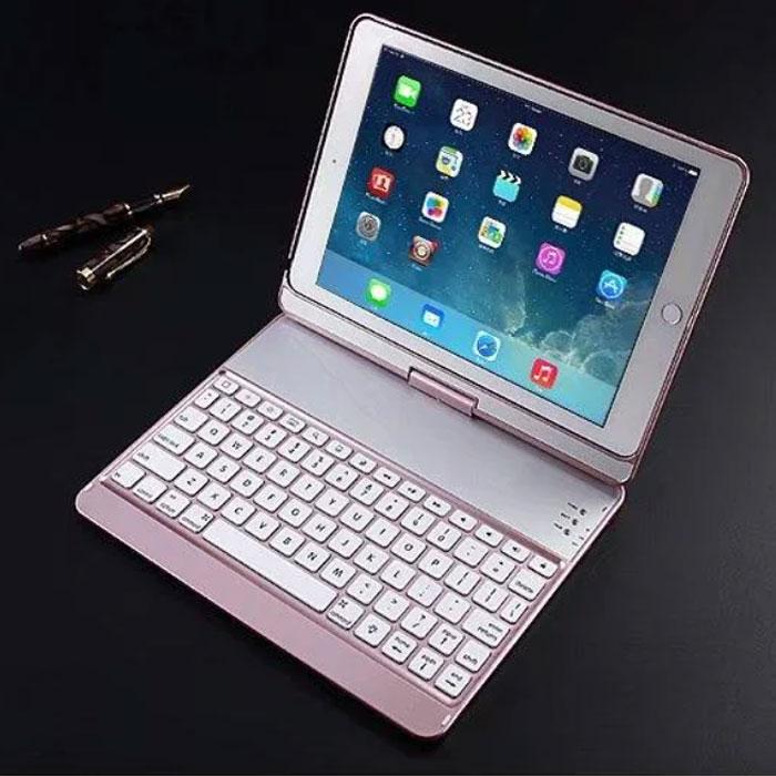 Клавиатура-чехол для iPad с подсветкой для iPad 6 / iPad 5 / iPadPro 9.7 / iPadAir 1 / iPadAir 2 (розовая)