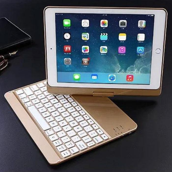 Клавіатура-чохол для iPad з підсвіткою для iPad 6 / iPad 5 / iPadPro 9.7 / iPadAir 1 / iPadAir 2 (золота)