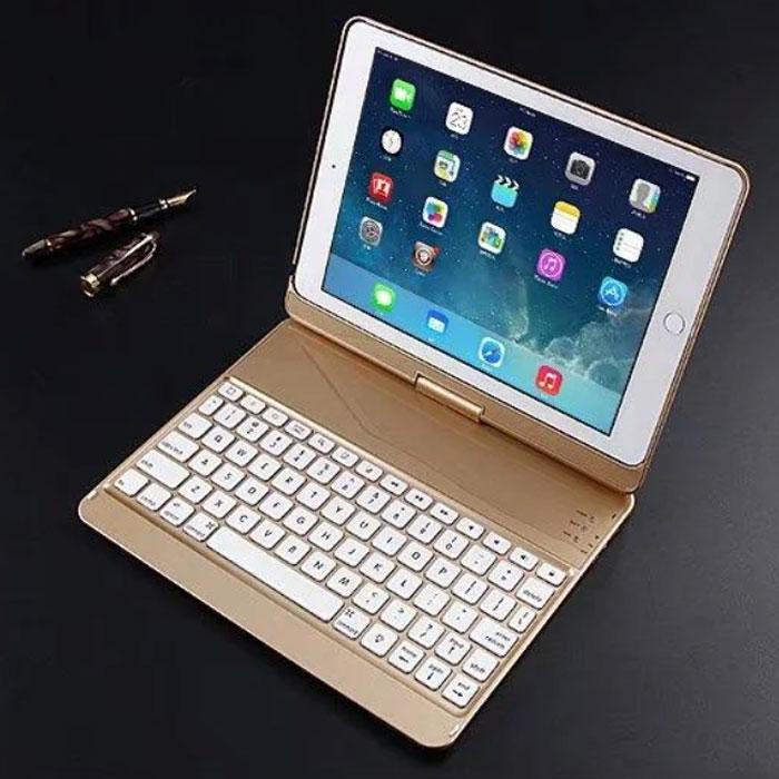 Клавиатура-чехол для iPad с подсветкой для iPad 6 / iPad 5 / iPadPro 9.7 / iPadAir 1 / iPadAir 2 (золотая)