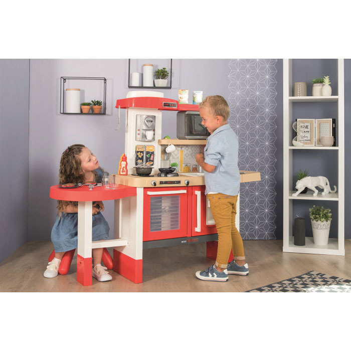 Интерактивная кухня Smoby Toys Тефаль Эволюшн Гурмэ с аксессуарами, эффектом кипения и звуками 312302