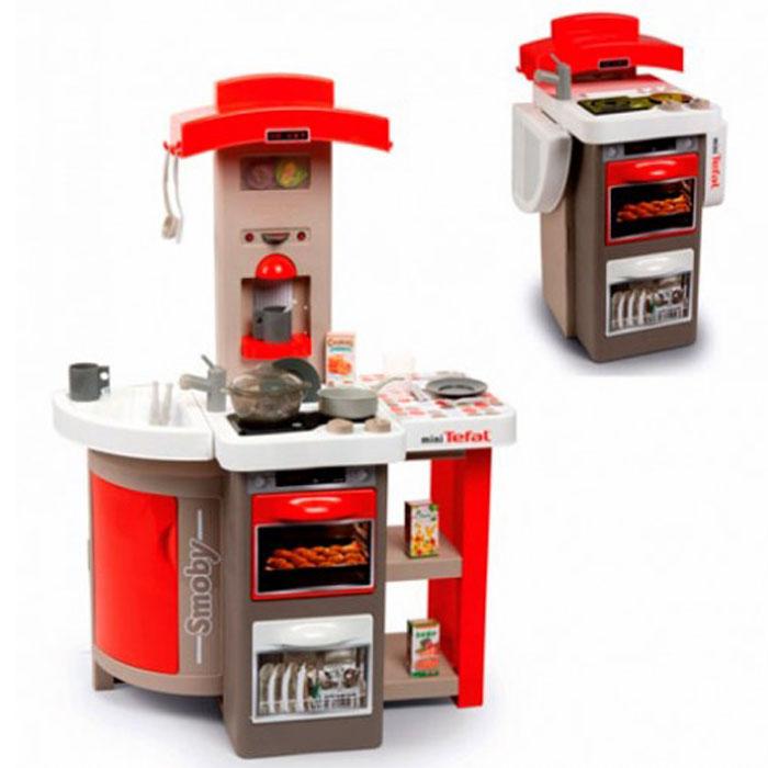 Інтерактивна кухня Тефаль Кухар Red розкладні, з ефектом кипіння і світловими ефектами, з аксесуарами Smoby 312203