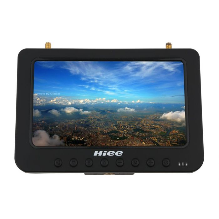 "Дисплей HD FPV 7"" HIEE HDRM808 1024x600 с двумя приёмниками 5.8GHz 32 канала и аккум."