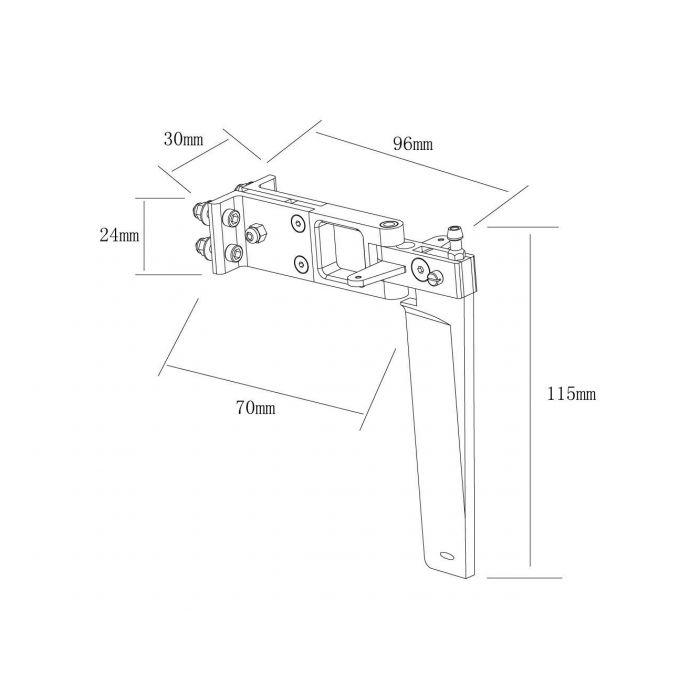 Руль направления 96x115мм для TFL Genesis 1122-2A