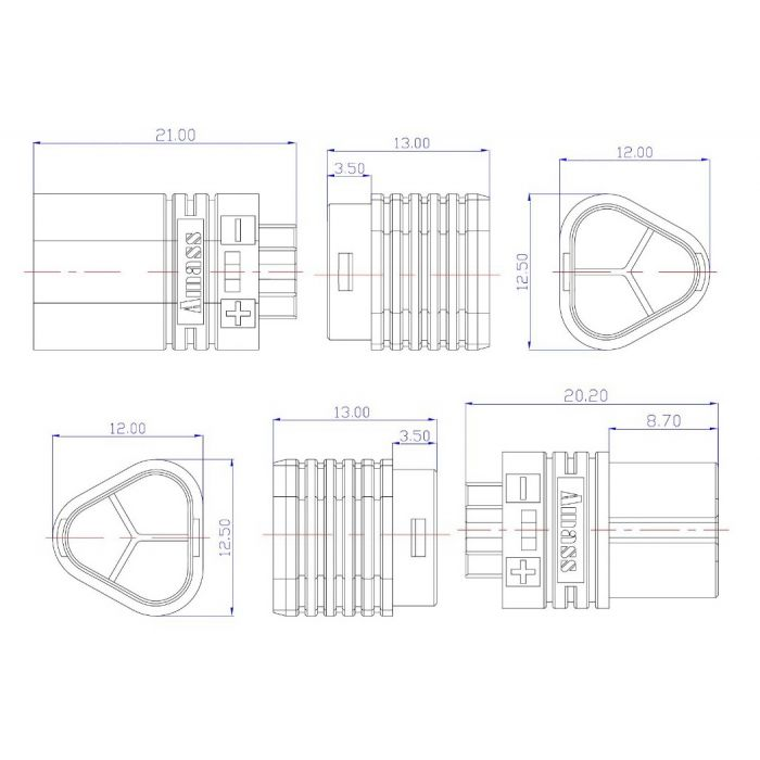 Коннекторы Tarot AMASS MT60 для регуляторов пара (TL2887-01)