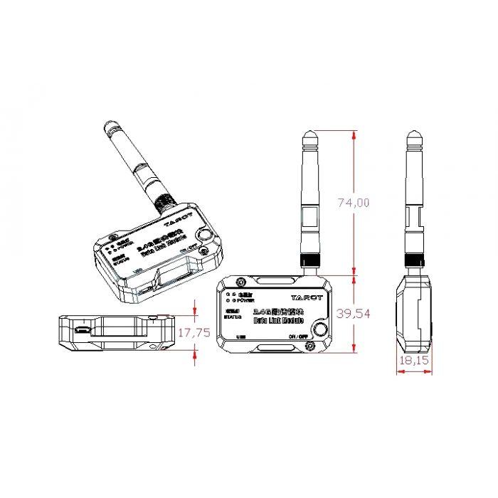 Телеметрия Tarot ZYX-BD Bluetooth для контроллера ZYX-M (ZYX27)