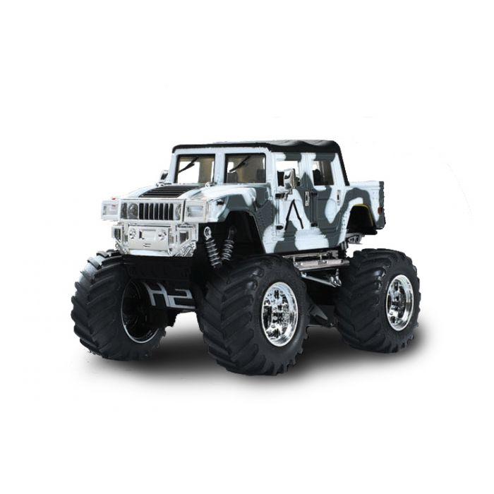 Джип микро р/у 1:43 Hummer (хаки белый)